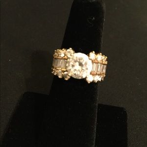 Jewelry - Gorgeous gold tone and CZ wedding ring!  NWOT!